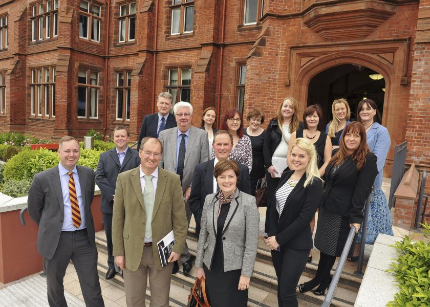 Delegation at Queen's University Belfast