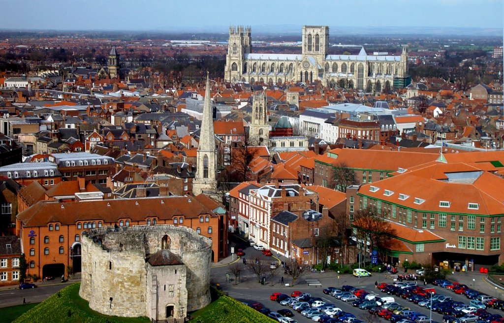 aerial view of york