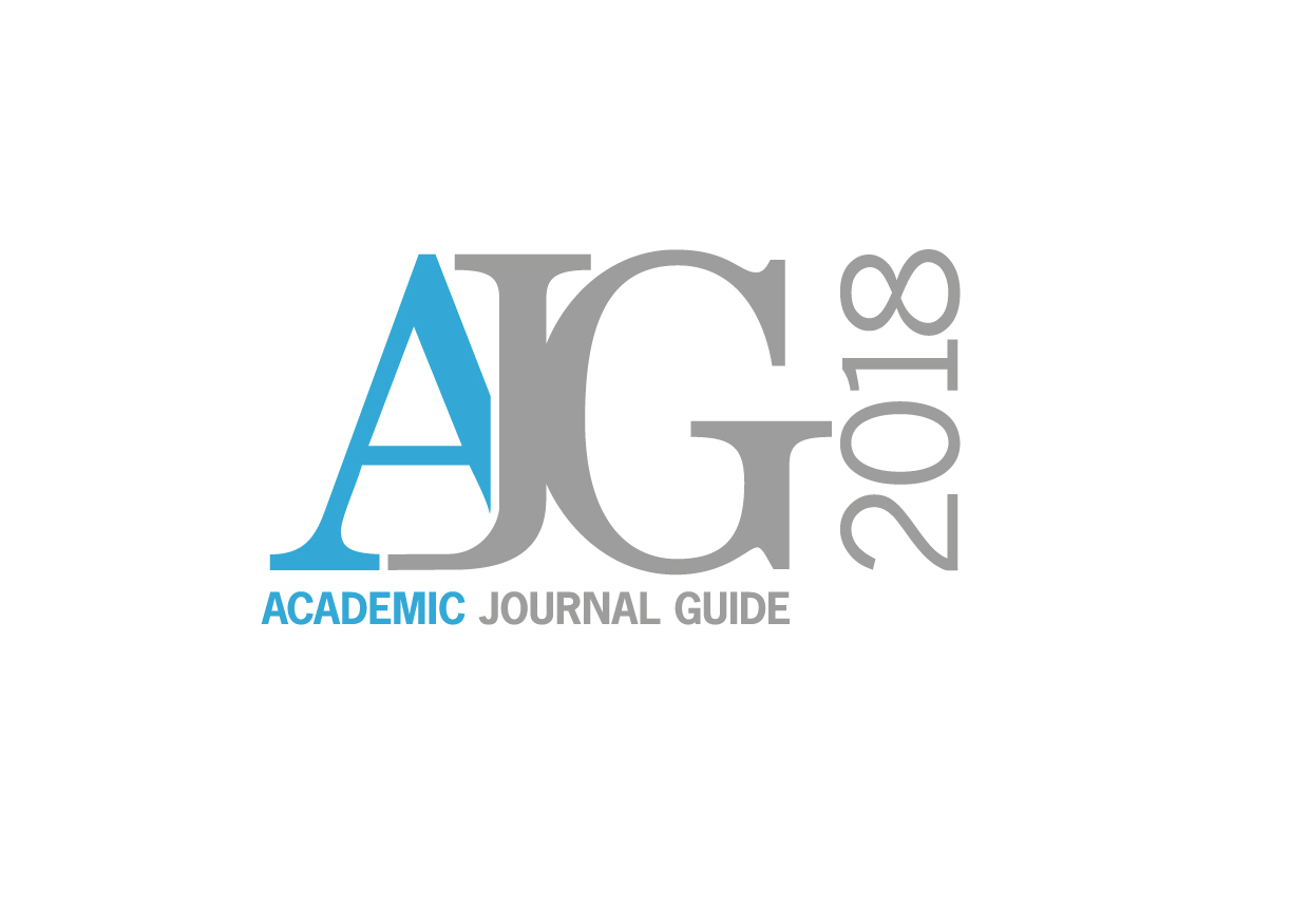 Academic Journal Guide 2018 - Chartered Association of Business Schools